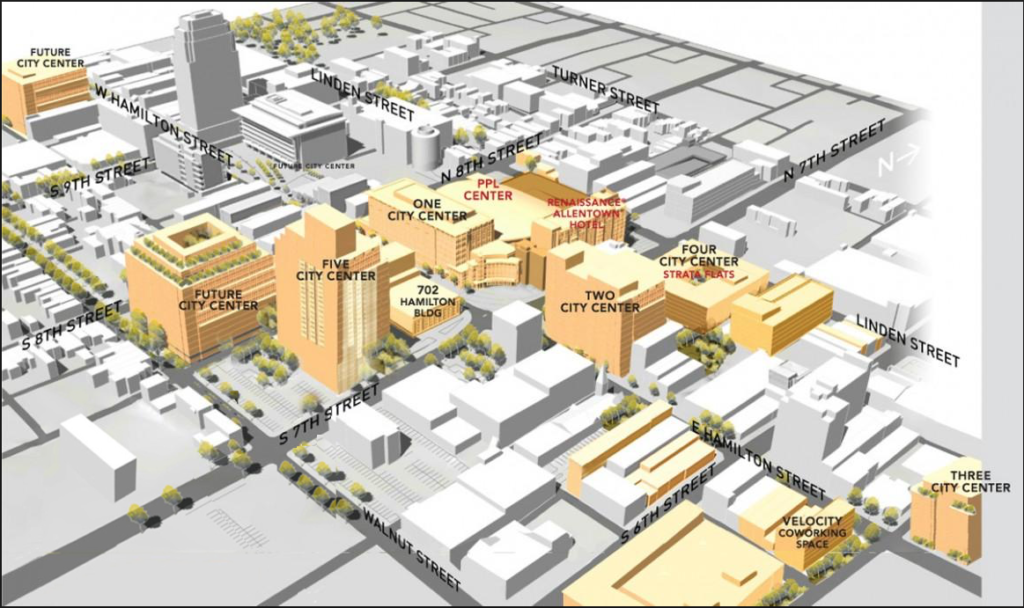Downtown Development plan in Allentown, PA developed by Hammes Company